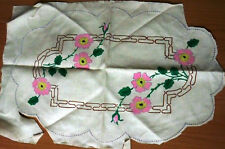 Vintage Semco Embroidery Flower Doiley - Design ? - 1 Doiley