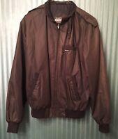 Members Only Men's Full Zip Cafe Racer Black Jacket Size 42L