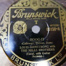 78rpm THE MILLS BROTHERS how did she look / boog-it , with louis armstrong