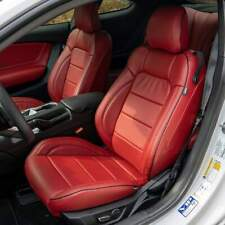 KATZKIN RED LEATHER REPLA INT SEAT COVERS FITS 2015-2019 FORD MUSTANG V6/GT/ECO