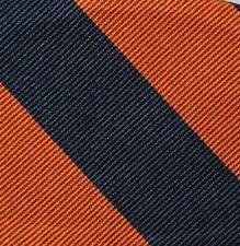"Bow Tie Men Silk BLUE ORANGE Stripe SELF TIE Bowtie 2.5"" wide"