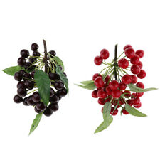 2pack Artificial Cherry Tomatoes Fake Cherry Fruit Kitchen Learning Props