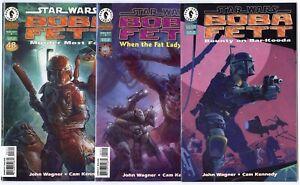 Star Wars: Boba Fett #1 - 3  Complete Set  avg. NM+ 9.6  Dark Horse  1995  B