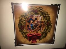 Disney Mickey Minnie Mouse Christmas Carol Deluxe Print SIGNED by Noah
