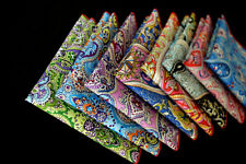 Men's Paisley Floral Cotton Colorful Handkerchief Pocket Square Hanky