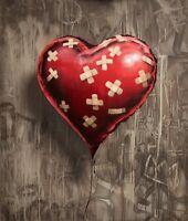A4 BANKSY ART PHOTO PRINT FOR 99P (BAND-AID-BALLOON-HEART),