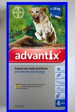 ADVANTIX 25-40kg  Bayer Pack of 4  dogs perros chien hund FREE SHIPPING Europe