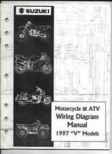 "1997 Suzuki ""V"" Models Motorcycle & Atv Wiring Diagram Manual 99923-13971"