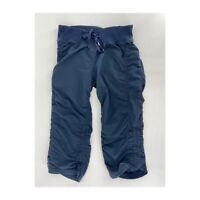 Zella Womens Size 8 Navy Blue Move It Crop Leggings