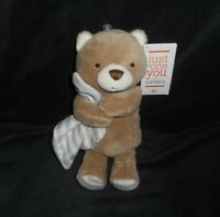 NEW W/ TAG CARTER'S JUST ONE YOU TEDDY BEAR RATTLE STUFFED ANIMAL PLUSH TOY