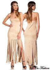 Markenlose Damenkleider im Boho -/Hippie-Stil ohne Muster