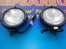 TJ Jeep Wrangler Fog Light Foglights SET of 2 FACTORY OEM NEW MOPAR 1997-2004