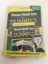 Texas Hold'em for Dummies 48 page guidebook & teaching deck of cards Card Game