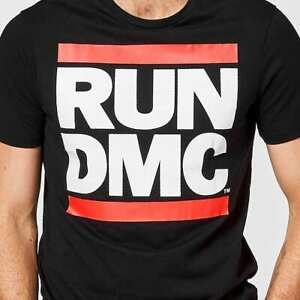 RUN DMC New Black T Shirt T-Shirt New with Tags Free Postage Small Size