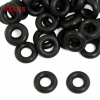 100X Black Rubber O-Rings for Worm Wacky Rig O-Ring Tools Fishing Bite Indicator