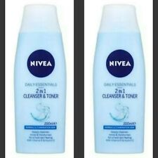 2 x Nivea Daily Essentials 2in1 Cleanser & Toner Normal/Combination Skin - 200ml