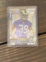 2015 Topps Chrome Autographed Malcolm Brown #184 Los Angeles Rams Rookie Card