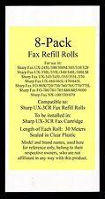 8-pack UX-3CR Fax Refill Rolls for Sharp UX-330L UX-335L UX-340 UX-340L UX-340LM