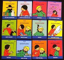 Lot HERGE   12 Mini livres extraits des aventures de Quick et Flupke  7x9