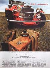 PUBLICITE EAU DE COLOGNE MONSIEUR ROCHAS VOITURE EXCALIBUR DE 1965 FRENCH AD PUB