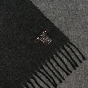 CANALI 100% Cashmere Double-sided Grey Scarf