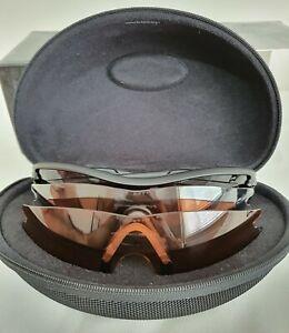 Oakley Vintage Si Radar Sunglasses Matte Black Frame - Grey + Clear + VR28 Lens