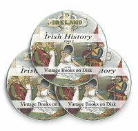 Irish History Genealogy Books Research 3 DVD Family Ancestry Ireland Culture 296