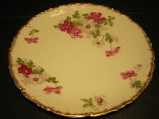 """Gorgeous Antique T&V Limoges 10"""" Hand Painted Pansy Flowers Decorated Plate"""