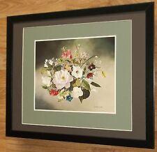 Flowers of Britain print - John Lancaster -20x16'' frame, rare botanical prints