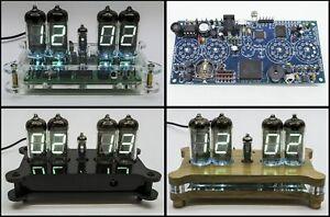 BOARD ONLY Desk Clock IV-11 / IV-12 VFD Tube + Case + Remote + RGB Nixie Era!