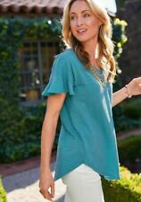 MATILDA JANE Sit Back and Relax Top SIZE L Large New In Bag Blue Womens