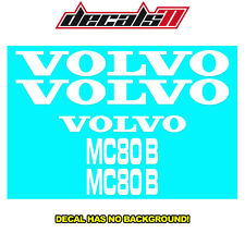 Volvo Mc80b Skid Steer Loader Decal Set Sticker