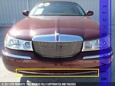 GTG 1998 - 2002 Lincoln Town Car 1PC Polished Overlay Bumper Billet Grille Grill
