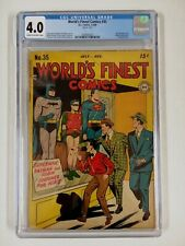 WORLD'S FINEST COMICS #35 CGC 4.0 BATMAN SUPERMAN