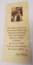Saint Teresa of Avila Prayer Card/Relic ( Image 1), New from Spain