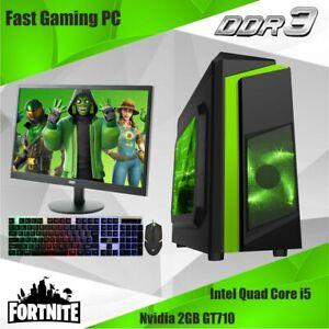 Cheap Gaming PC Intel Quad Core i5 1TB HDD 8GB RAM 2 GB GT710 GPU WINDOWS 10