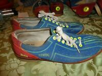 Vintage BSI Size 9 Men Rental Bowling Shoes Blue Red suede leather #A