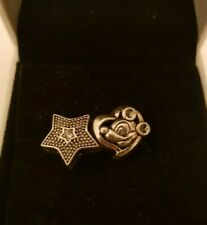 2x Mickey Mouse Heart and Star Charm Pandora Size Gift