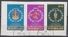 Seychellen 1977 Θ Mi.388/90 Regentschaft Silver Jubilee Queen Elizabeth [sq7109]