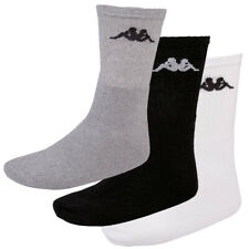 New Kappa Sonotu Men Sports Everyday Socks 3 Pair Pack White Black Grey RRP £20✅