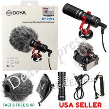 BOYA BY-MM1 Universal Cardioid Shotgun Condenser Microphone for Nikon Canon DSLR