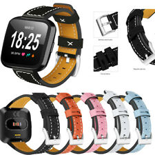 For Fitbit Versa / 2 / Lite Smart Watch Band Strap Leather Bracelet Wrist Band