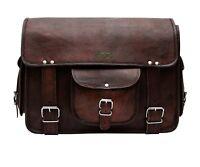 Messenger Bag School Shoulder Bag Men's Vintage Leather Crossbody Satchel Bag