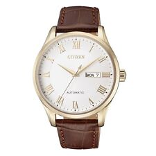 Citizen NH8363-14A Men Automatic Leather Strap Analog Watch
