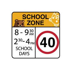 SCHOOL ZONE CAR Sticker Decal Car Drift Turbo Euro Fast Vinyl #1491A