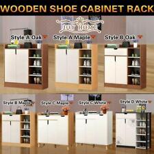 Large Shoe Cabinet Rack Wooden Drawer Cupboard Shelf Organization Chest