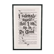 Art Print Harry Potter Marauders Map Print on Book Page from Philosopher's Stone