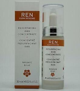 Ren Clear Skincare Resurfacing Aha Concentrate 30 ml- Boxed- Free 1st Class Post