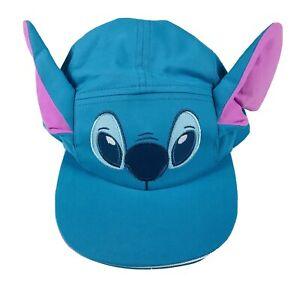 Disney Store Baby Blue Knit 3D Ears Stitch Baseball Swim Sun Hat Cap 12-18 MO SJ