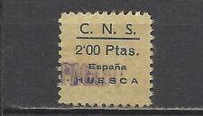 1103-SELLO GUERRA CIVIL FALANGE C.N.S.HUESCA 2 PTS 1939.NO CATALOGADO.SPAIN WAR.